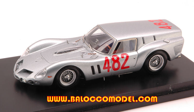FERRARI 250 GT BREADVAN N.482 9th COPPA GALLENGA HILL CLIMB 1:43