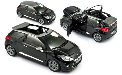 Citroen DS3 Cabrio 2013 Black 1/18