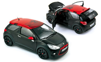 Citroen DS3 Racing 2012 Black Matt & Red 1/18