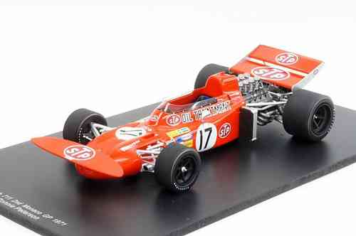 March 711 in 1971 Monaco Grand Prix runner-up No.17 R.Peterson 1/18