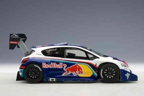 "PEUGEOT 208 T16 PIKES PEAK RACE CAR 2013 ""Red Bull"" PORTE APRIBILI 1/18"