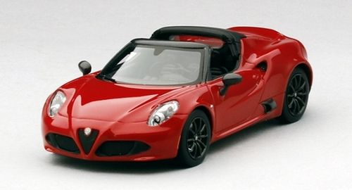 ALFA ROMEO 4C SPIDER 2014 RED 1/43