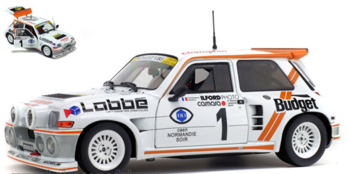 RENAULT 5 MAXI TURBO N.1 WINNER RALLYE ARMOR 1986 THOMASSE-MAINE 1:18