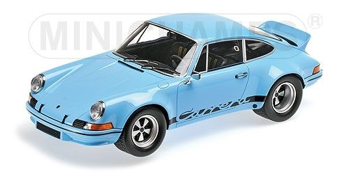 PORSCHE 911 CARRERA RSR 2.8 1973 GULF BLUE & BLACK 1/18