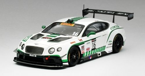BENTLEY GT3 #16 DYSON RACING WINNER PIRELLI WORLD CHALLENGE ROAD AMERICA 2015 1/43