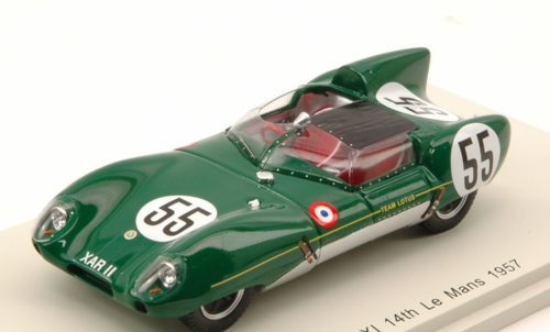 LOTUS XI N.55 14th LM 1957 C.ALLISON-K.HALL 1:43