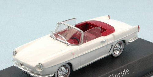 "RENAULT FLORIDE 1959 ""BRIGITTE BARDOT"" WHITE W/RED ROOF 1:43"