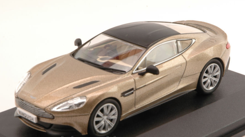 ASTON MARTIN VANQUISH COUPE' 2001 GOLD W/BLACK ROOF 1:43