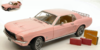 "FORD MUSTANG COUPE' 1967 ""PLAYBOY PINK MUSTANG"" INCLUDES LUGGAGE 1:18"