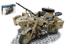 BMW R75 GERMAN MILITARY MOTOR W/SIDECAR KIT 1:9