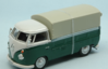 VW T1 PICK UP CLOSED 1961 DARK GREEN/WHITE 1:43