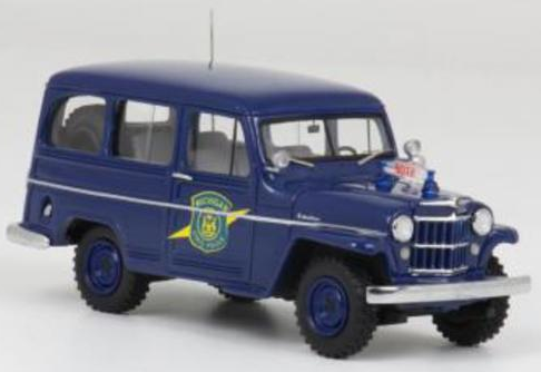 JEEP WILLYS STATION WAGON MICHIGAN STATE POLICE 1954 1:43