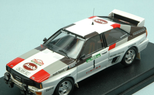 AUDI QUATTRO N.1 2nd RALLY OF PORTUGAL 1983 M.MOUTON-F.PONS 1:43