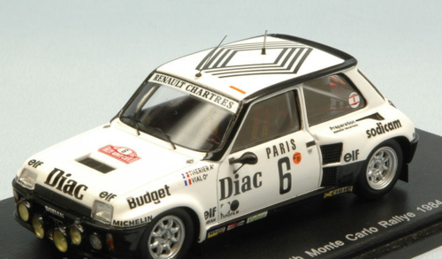 RENAULT 5 TURBO N.6 4th MONTE CARLO 1984 J.L.THERIER-M.VIAL 1:43