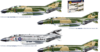 F-4 C/D/J PHANTOM USA-US NAVY VIETNAM ACES DECALS x 4 VERSIONI KIT 1:72