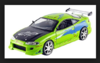 BRIAN'S MITSUBISHI ECLIPSE FAST & FURIOUS LIME GREEN 1:24