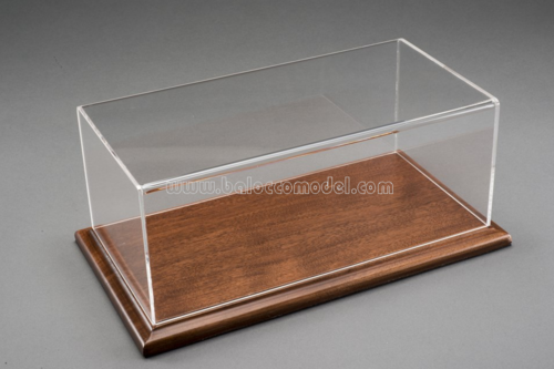MOLSHEIM DISPLAY CASE W/MOGAN COLOR WOOD BASE 1:12