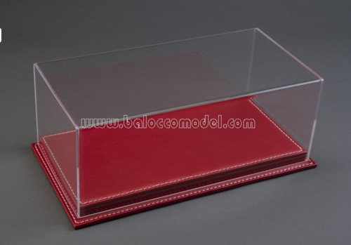 MULHOUSE DISPLAY CASE W/RED LEATHER BASE 1:12