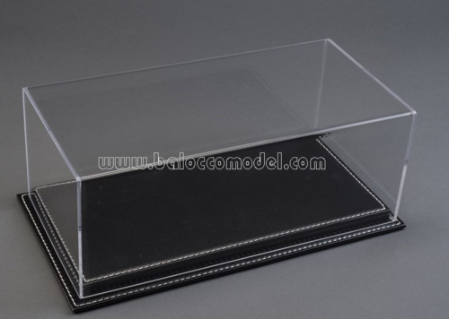 MULHOUSE DISPLAY CASE W/BLACK LEATHER BASE 1:12