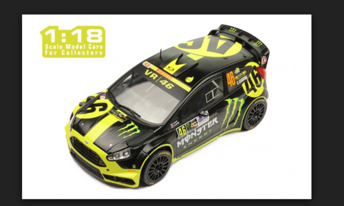 FORD FIESTA RS WRC MONSTER N.46 RALLY MONZA 2014 V.ROSSI-CASSINA 1:18