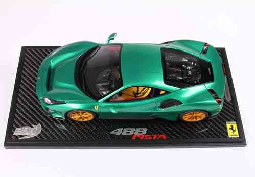 Ferrari 488 Pista Green 1/18 lim.ed. 20 pcs no display