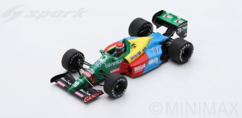 BENETTON B188 E.PIRRO 1989 N.20 9th FRENCH GP 1:43