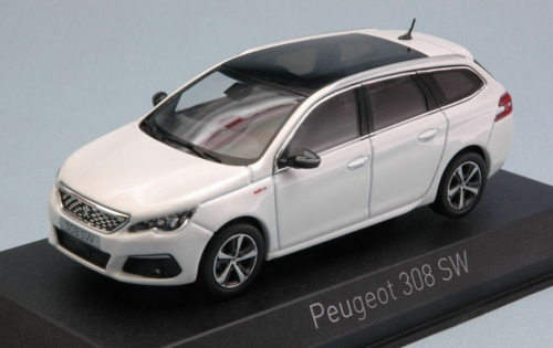 PEUGEOT 308 SW GT LINE 2017 PEARL WHITE NOREV 1/43
