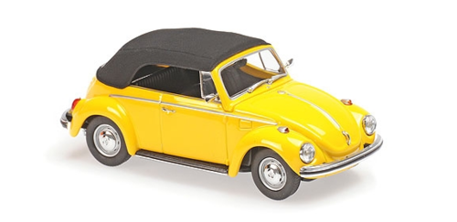 VW 1302 CABRIOLET 1970 YELLOW MINICHAMPS 1/43 940055030