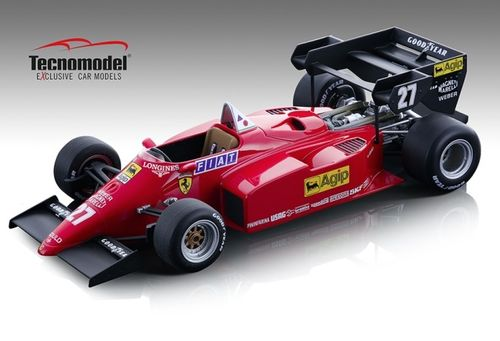 FERRARI 126 C4-M2 MICHELE ALBORETO 1984 N.27 2nd EUROPEAN GP 1:18