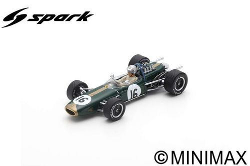 BRABHAM BT19 JACK BRABHAM 1966 N.16 WINNER DUTCH GP 1:43