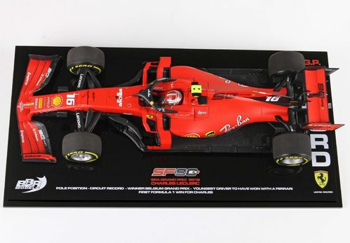 Ferrari SF90 Winner Belgium Gran Prix 2019 Leclerc 1/18 no Display