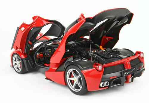 Ferrari LaFerrari Corsa Red/Gloss Black Roof 1/18 die cast